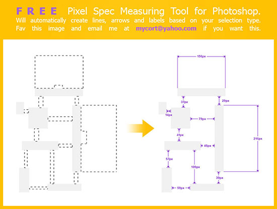 Pixel Spec Measuring Script for Photoshop