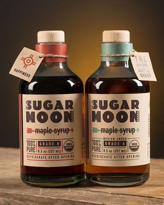 Sugar Moon Maple Syrup Packaging