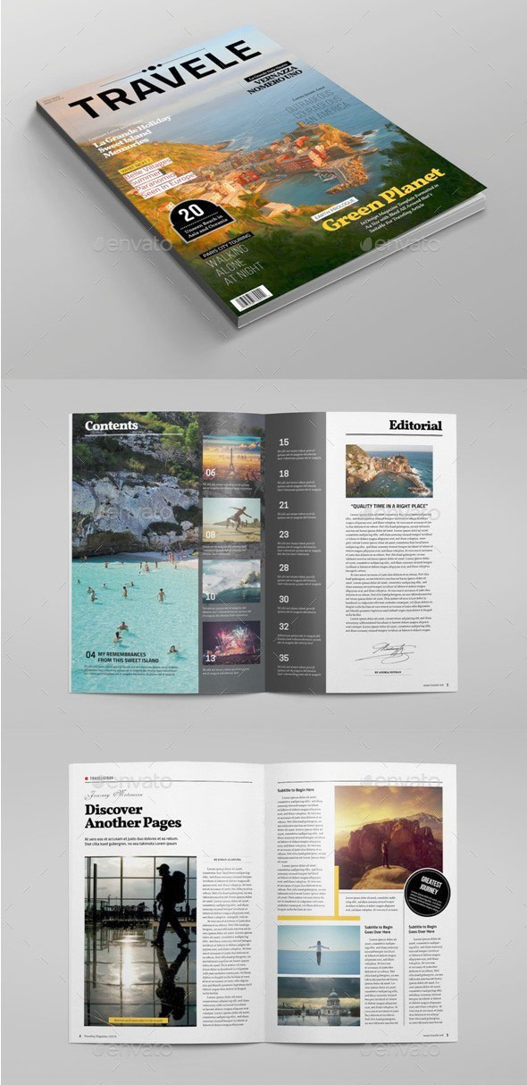 Traveling Magazine Template