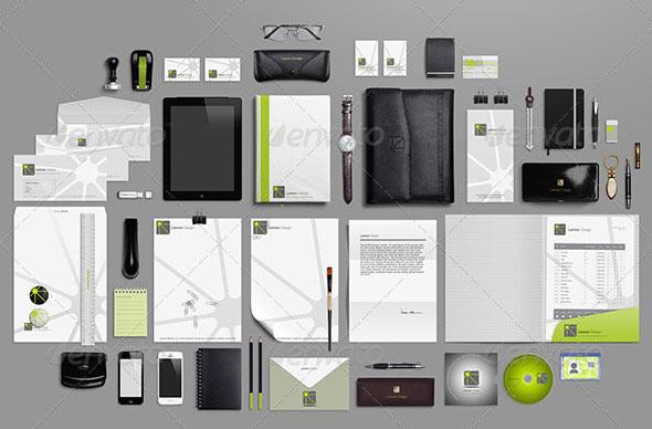 Identity Branding Stationery Full Pack Mock-up