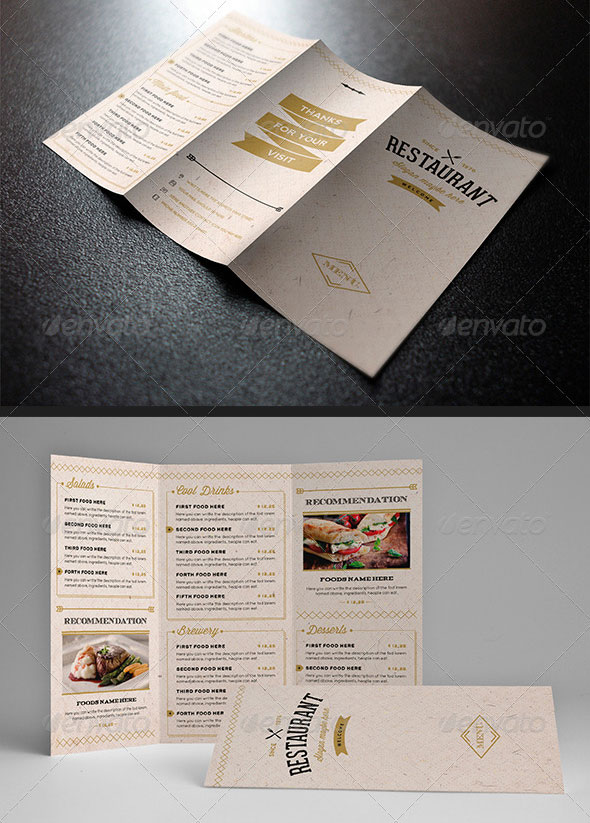 Elegant Food Menu 12b - Light Version