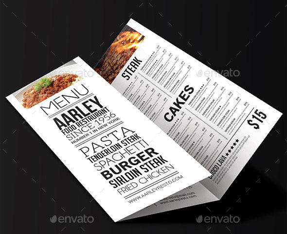 Simple Typography Trifold Menu