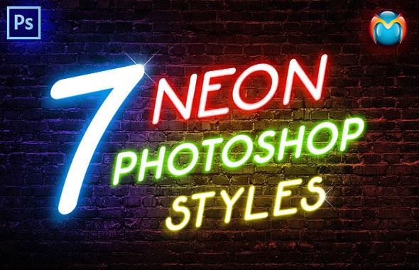 Neon Photoshop Styles
