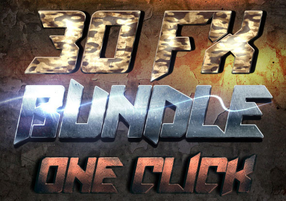 War Game Styles - Photoshop Text Effects Bundle