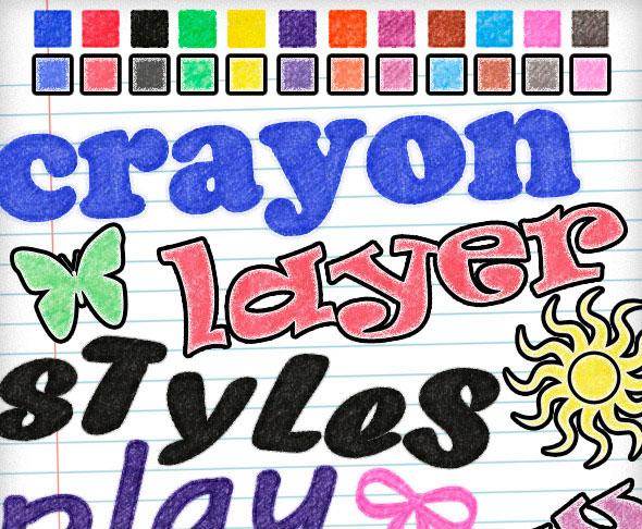24 Crayon Styles