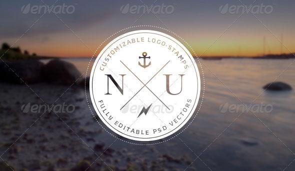 Modern, Vintage Inspired Logo Stamps