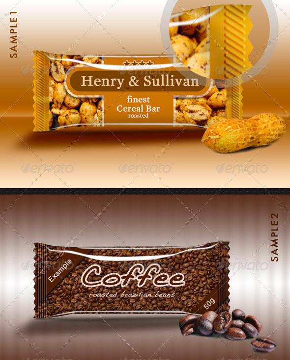 Candy Bar Wrapper Packaging Mock-Up