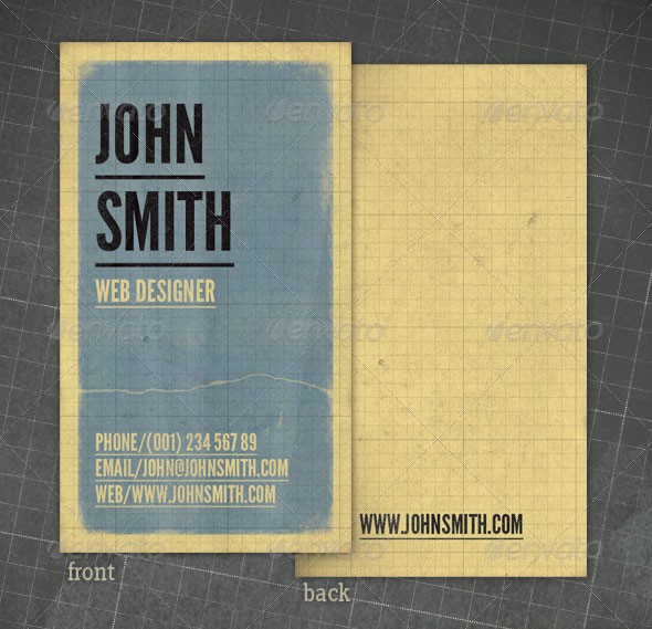 Grungy Retro Business Card