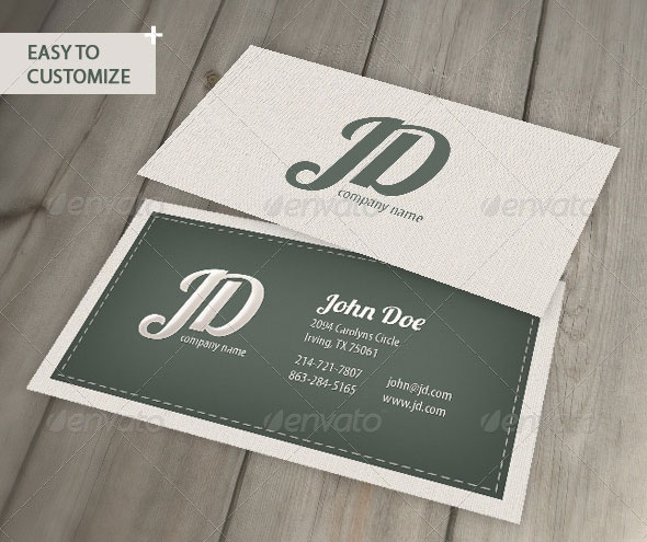 Professional Retro Business Card
