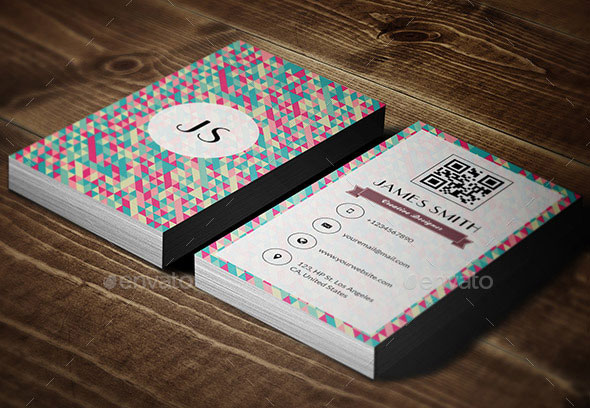 Retrocom V2 - Retro Style Vertical Business Card