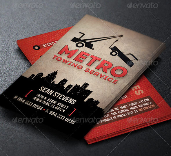 Towing Industry Business Card Template