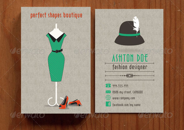 Retro Fashion Business Card