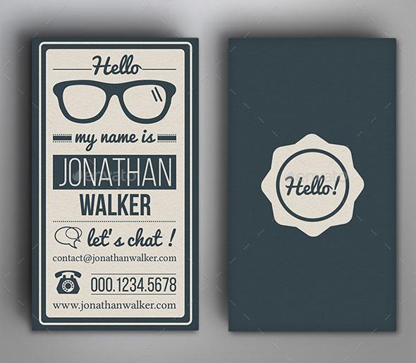 Retro Vintage Typography Business Card