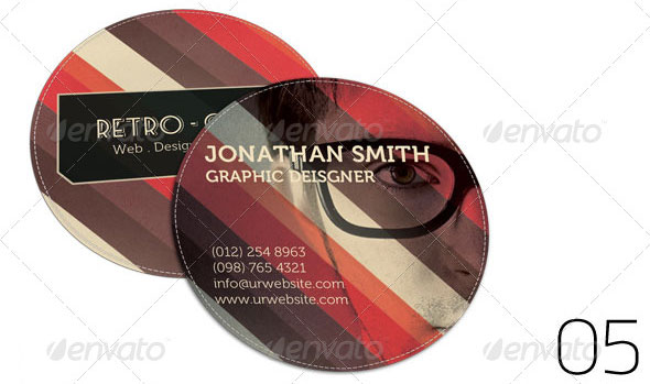 Business Card - Retro Rounded