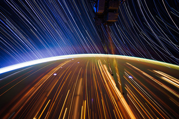 Expedition 31 star trail by NASA_JSC_Photo