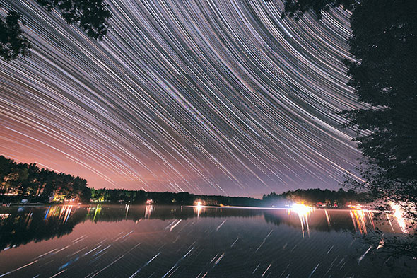 Stars Spinning Over Water by Eric Kilby