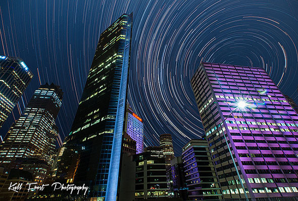Sydney Star Trails by Kiall Frost
