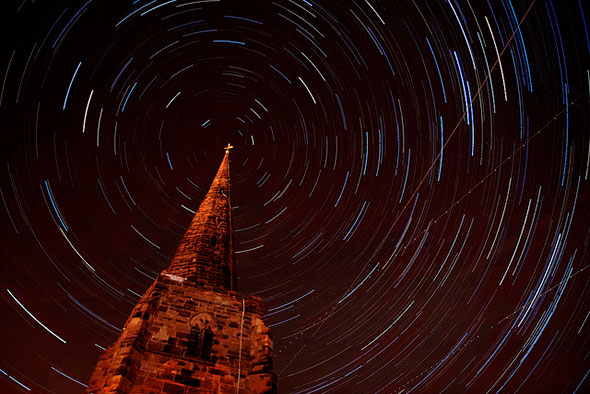 Lichfield star trails by Corica