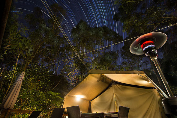 Glamping star trails by David Marriott - Sydney
