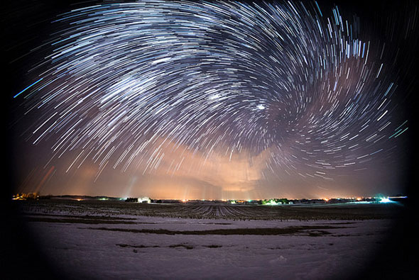 Vortex Star Trails by Benjamin Root Photography