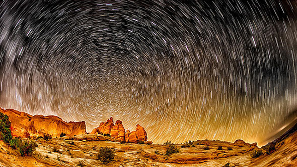 15 minute star trails by Marvin Bredel