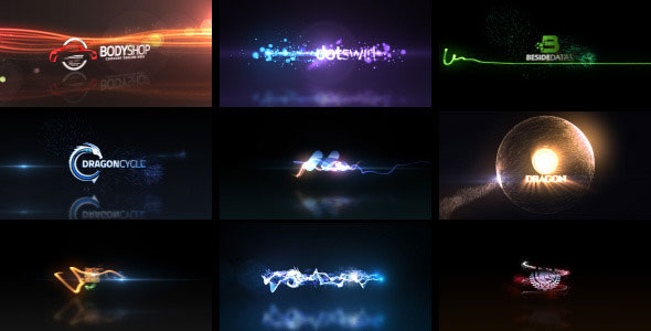 Quick Logo Sting Pack 04: Glowing Particles