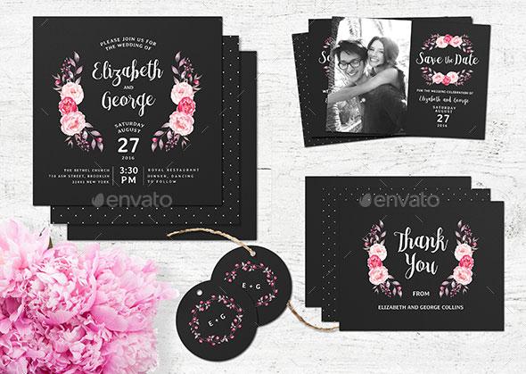 Chalkboard Wedding Invitation Stationery