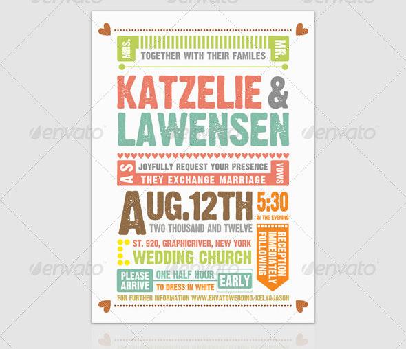 Wedding Invitation Typography