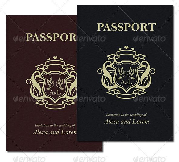 Passport Style Wedding Set