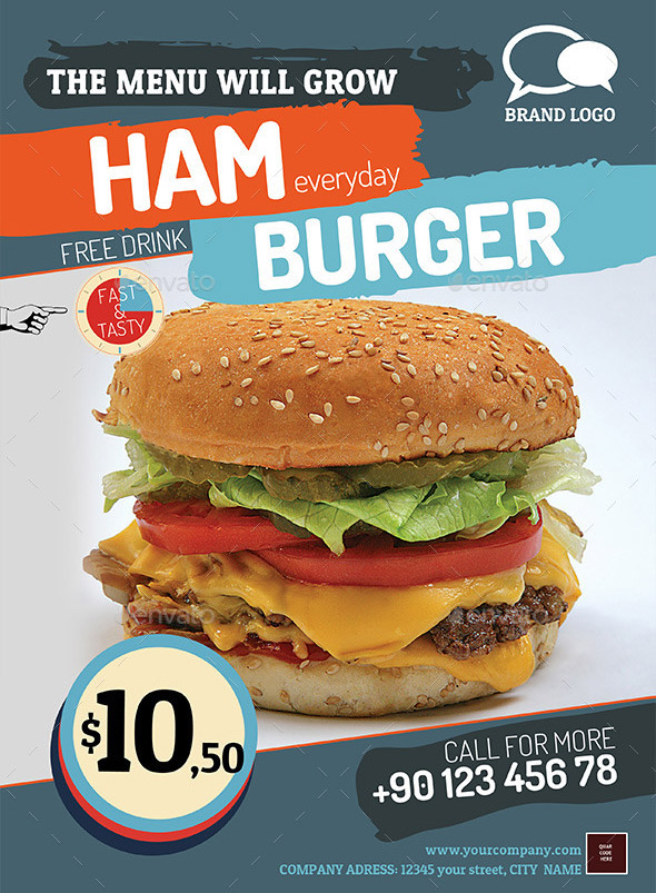 Hamburger Menu Flyer