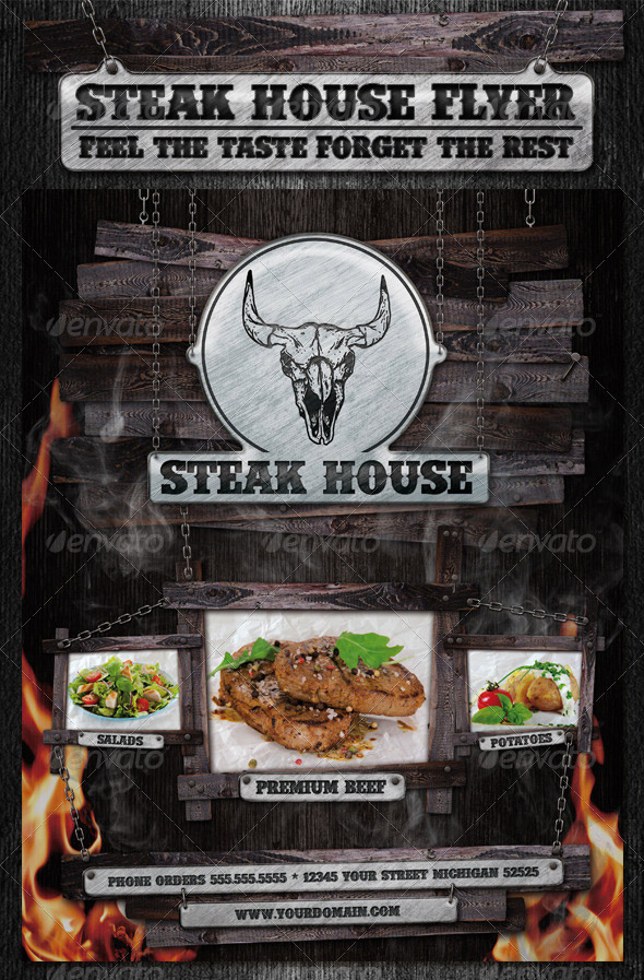 Steak House Flyer Template