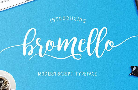 bromello typeface