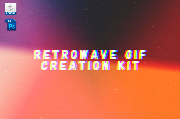 Retrowave Gif Creation Action