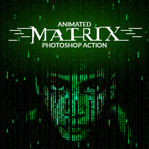 Animated Matrix Photoshop Action