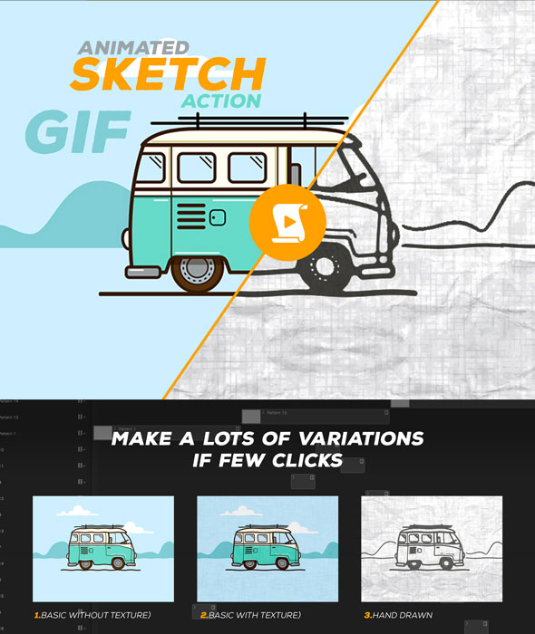 Animated Sketch GIF Action