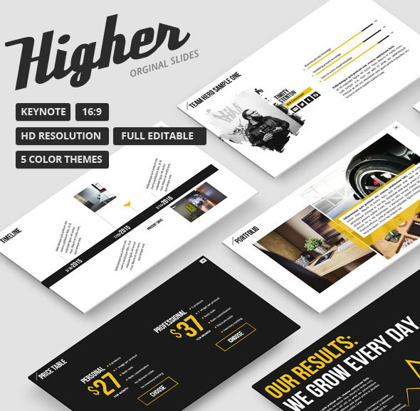 Higher - Creative Keynote Template