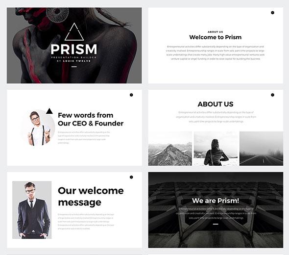 Prism Minimal Keynote Template Builder