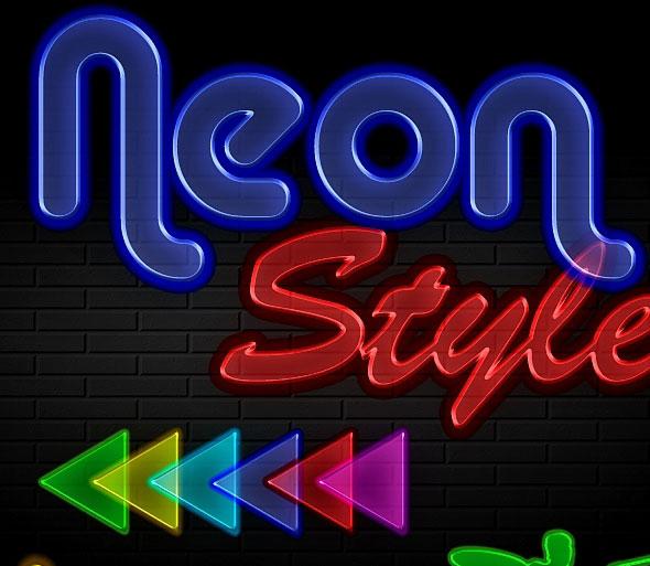 Neon Styles 6 colors