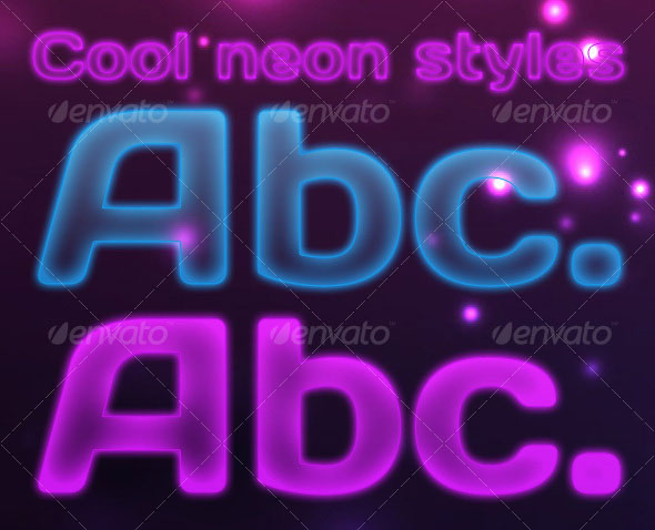 Elegant Neon Effects & Styles