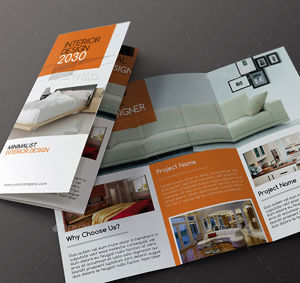 Interior Design - Trifold Brochure