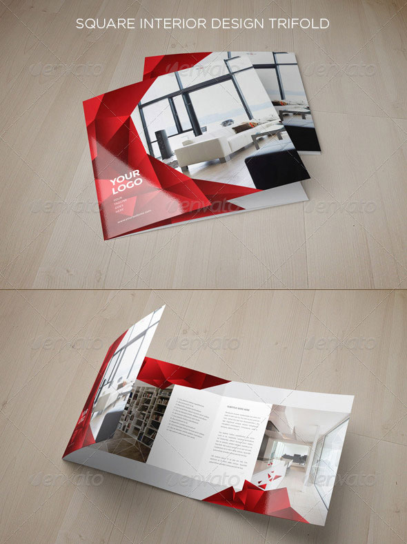 Square Interior Design Trifold