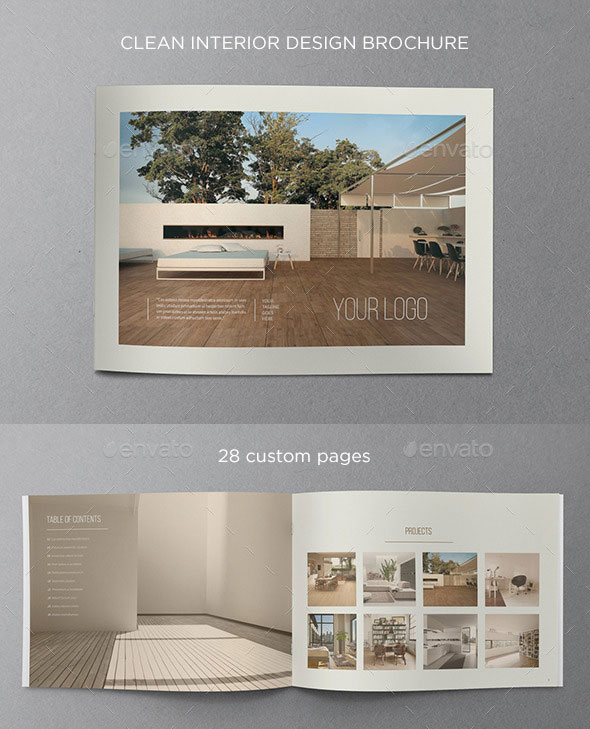 Clean Interior Design Brochure