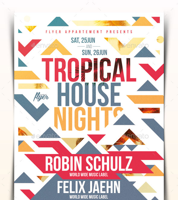 Tropical House Nights Flyer