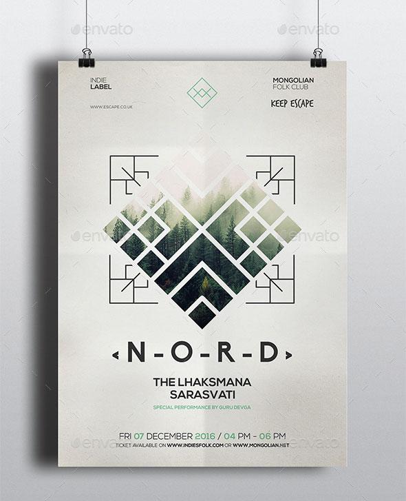 Geometric Alternative Flyer