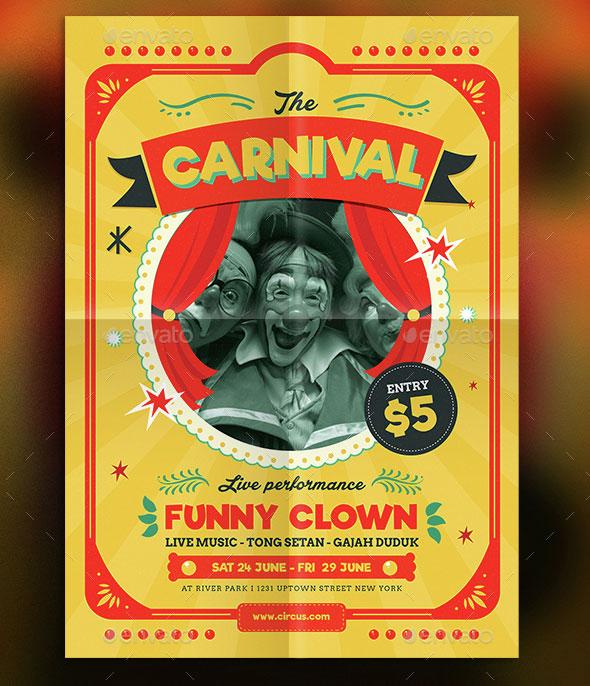 Retro Circus Carnival Flyer