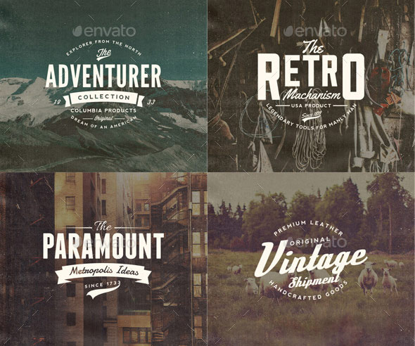 27 Retro Vintage Insignias Bundle Volume 1