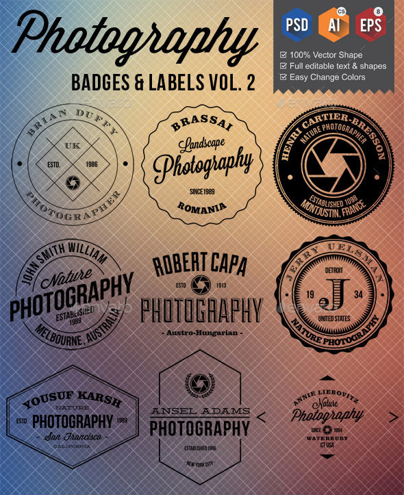 Photography Badges Labels v2
