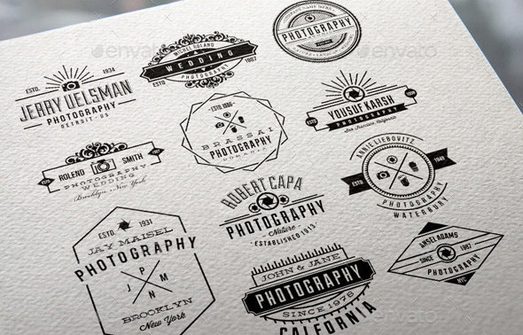84 Premium Photography Wedding Badge Labels Bundle