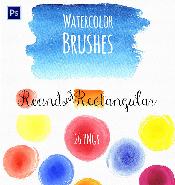 Watercolor Round & Rectangular Brushes