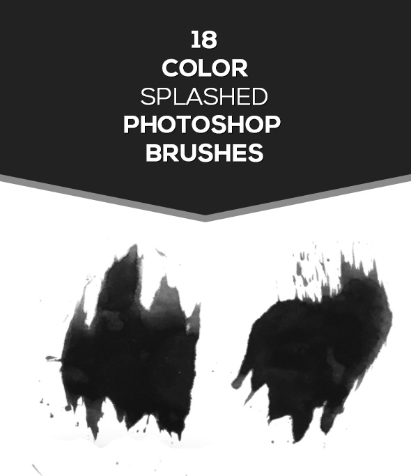 18 Color Splashed Brushes